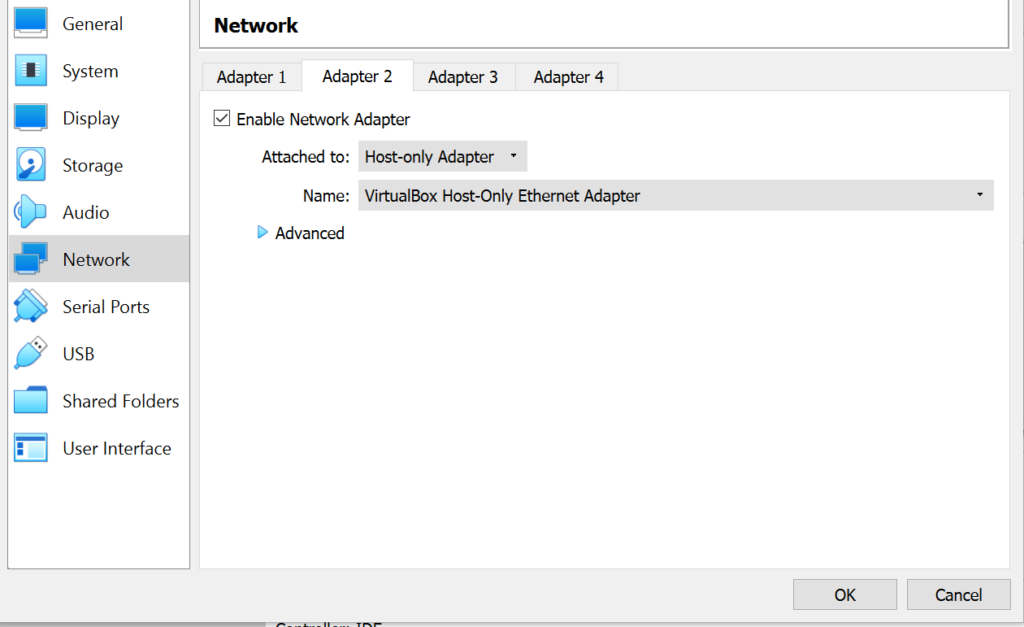 VirtualBox Network Adapter 2 image